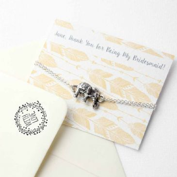 Personalised Lucky Elephant Friendship Bracelet